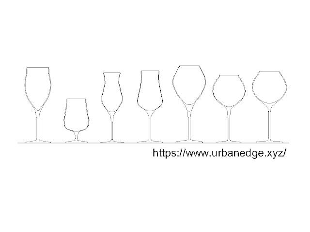 Wine glass cad block