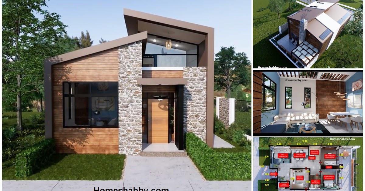 Desain dan Denah Rumah Modern 2 Lantai Ukuran 7,5 x 12 m 3 ...