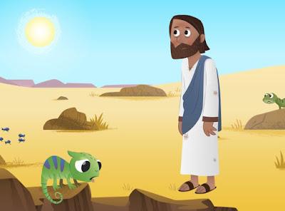 Jésus 40 jours dans le désert