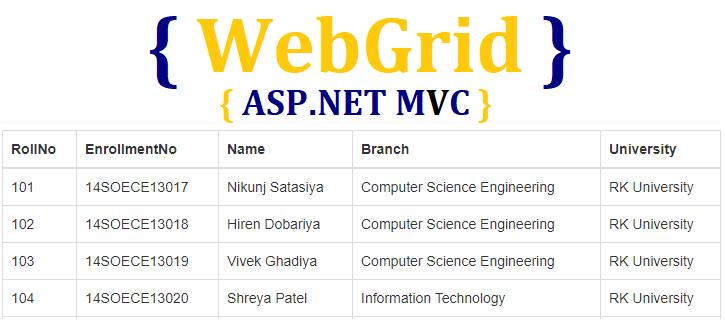 WebGrid