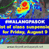 #WALANGPASOK: List of class suspensions for Friday, August 9