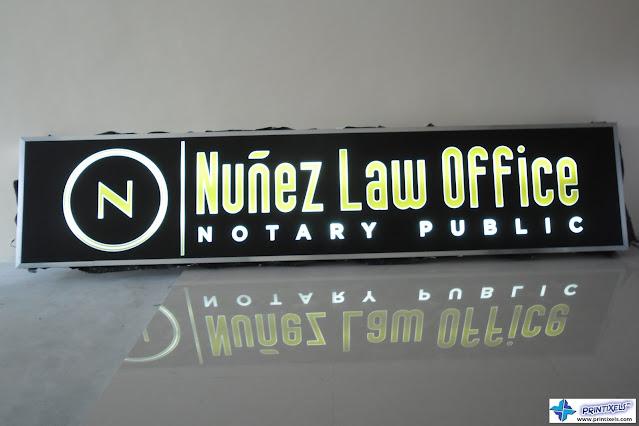 Backlit Signage - Nunez Law Office