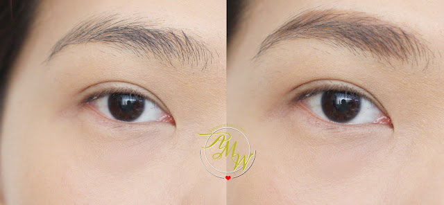 before and after photo Sleek MakeUP Brow Intensity Review in shades Light, Medium and Dark.
