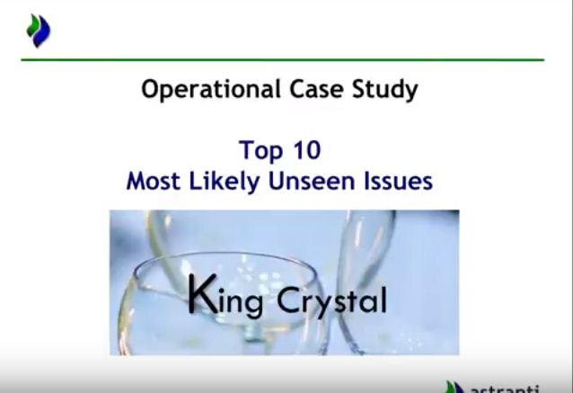 Top 10 issues video for CIMA OCS February 2018  - King Crystal Case study