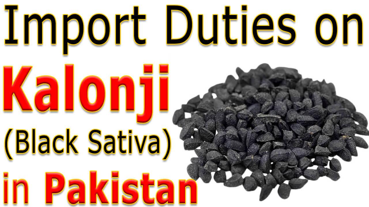 Import Duties on Kalonji in Pakistan
