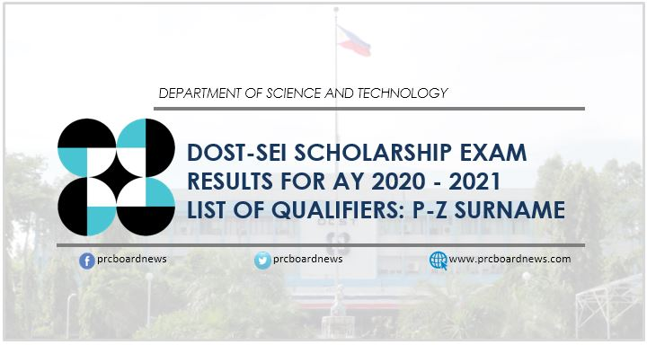 P-Z Qualifiers: DOST Scholarship Exam Results 2020