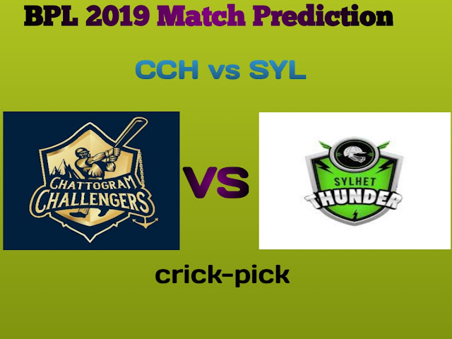 Today Match Prediction-Chattogram Challengers vs Sylhet Thunder 10th Match BPL 2019-Who Will Win Today Match.
