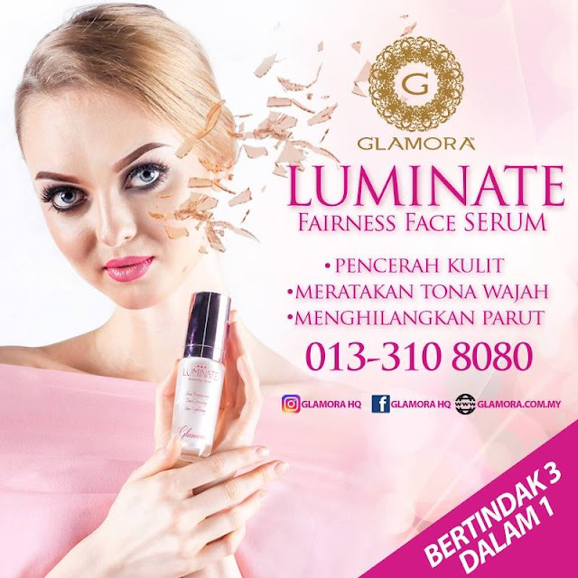 glamora, luminate, glamora luminate, luminate fairness face serum