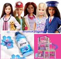 Logo Lenor Win : come vincere ogni giorno 10 bambole Barbie e la Casa dei Sogni