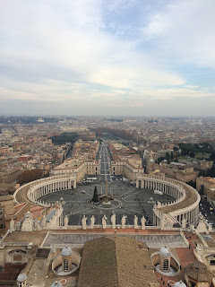 View from Michelangelo's Dome of Saint Peter's Square
