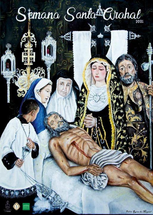 Cartel anunciador de la Semana Santa de Arahal (Sevilla) 2021