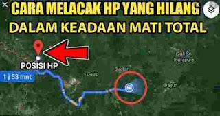 Melacak HP yang hilang