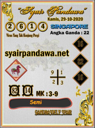 Syair Pandawa SGP 29 Oktober 2020