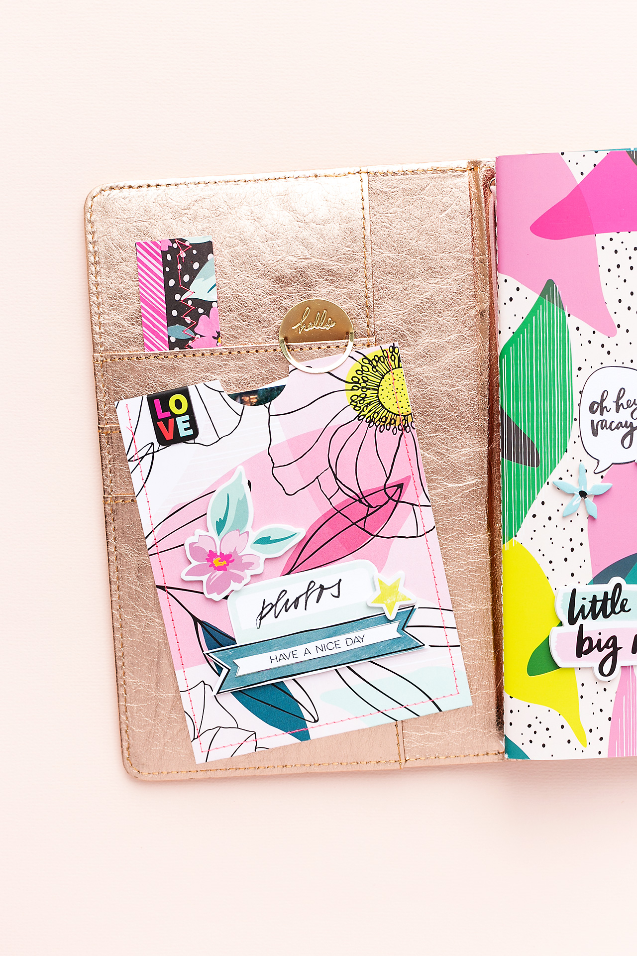 A peek inside my journal with Sustainable Journaling Planner by American Crafts