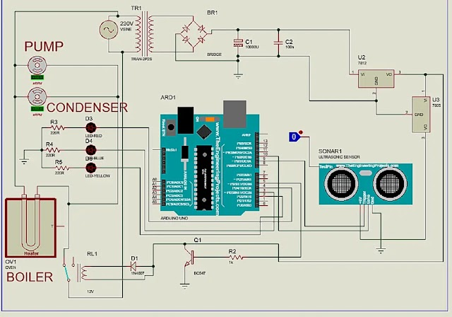 AUTOMATIC WATER DISTILLER MACHINE WHICH SUPPLY WATER DIRECTLY TO THE AUTOCLAVE MACHINE USING ARDUINO.