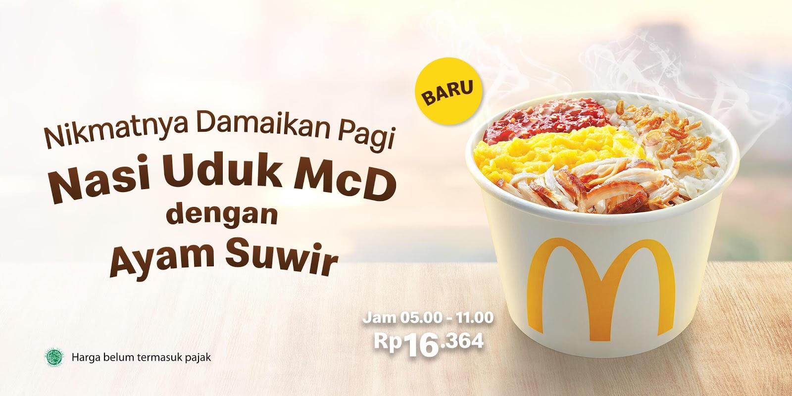 McDonalds Promo Nasi Uduk McD + Ayam Suwir Harga Hanya Rp 16.364