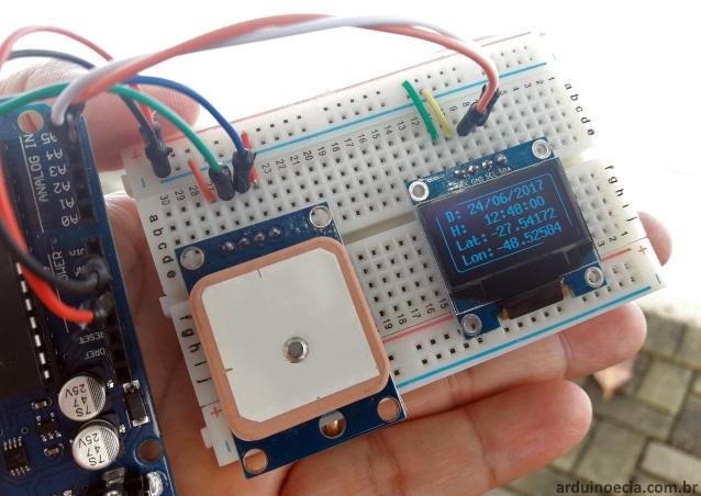Arduino Uno e módulo GPS NEO6MV2