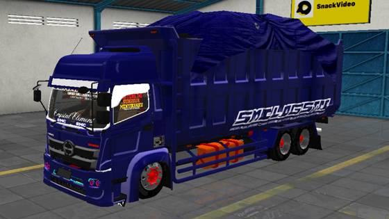 Mod Truck Hino 500 C9 Dump Terpal