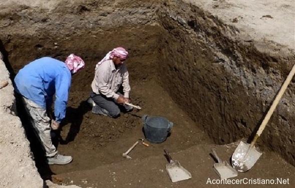 Arqueólogos arqueológicas en Ur, ciudad de Abraham