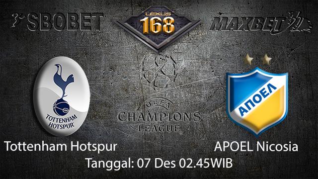 PREDIKSIBOLA - PREDIKSI TARUHAN BOLA TOTTENHAM HOTSPUR VS APOEL NICOSIA 7 DESEMBER 2017 ( UEFA CHAMPIONS LEAGUE )