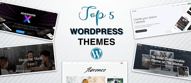 Top 5 Most Popular Premium WordPress Themes 2021