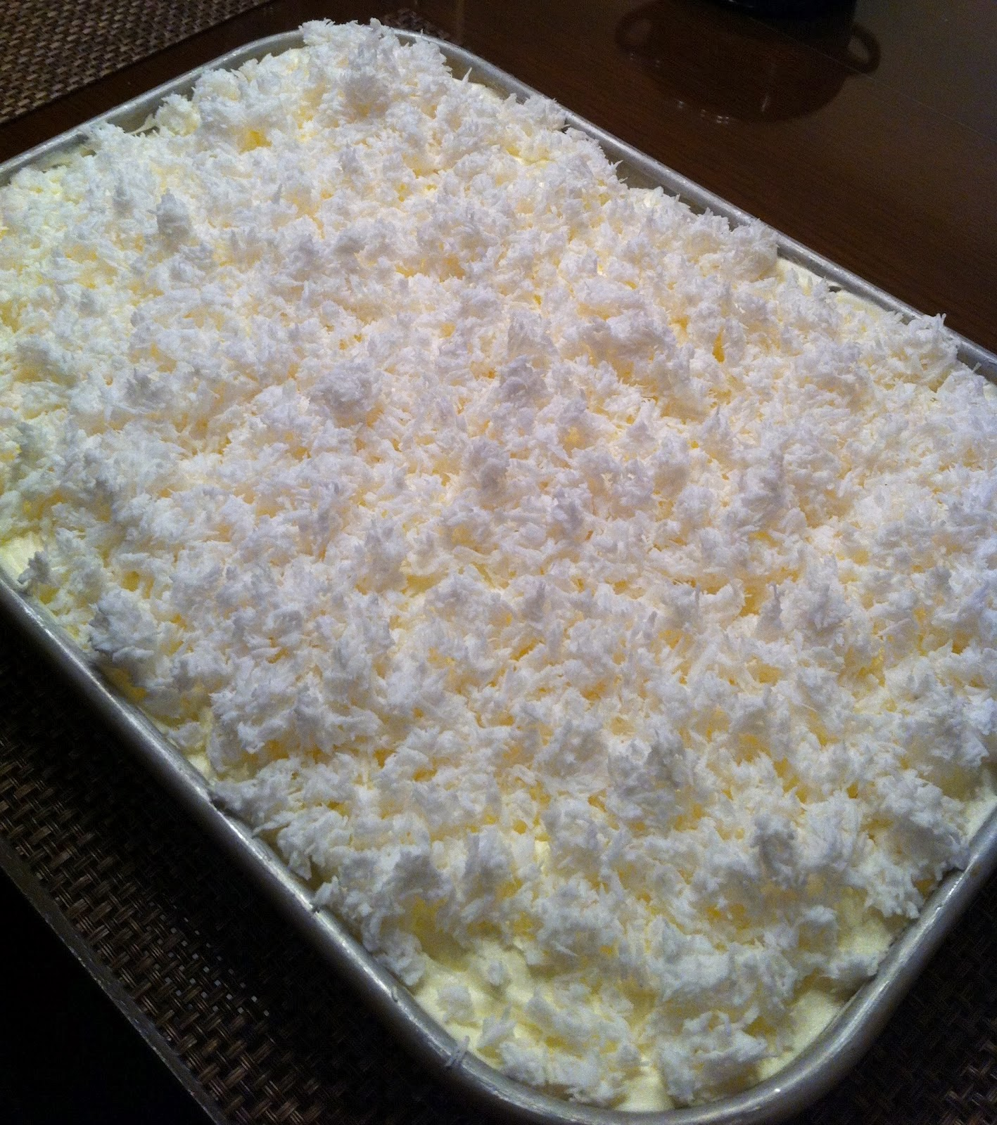 Coconut Cake Using Extra Creamy Cool Whip