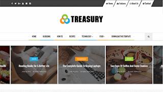 Treasury Simple Blogger Template