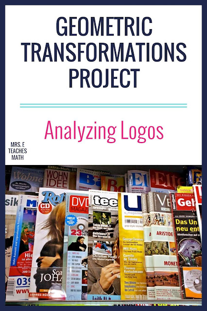 If you're teaching transformations in geometry, this free project idea is great! Students use logos to find reflections, rotations, and symmetry.