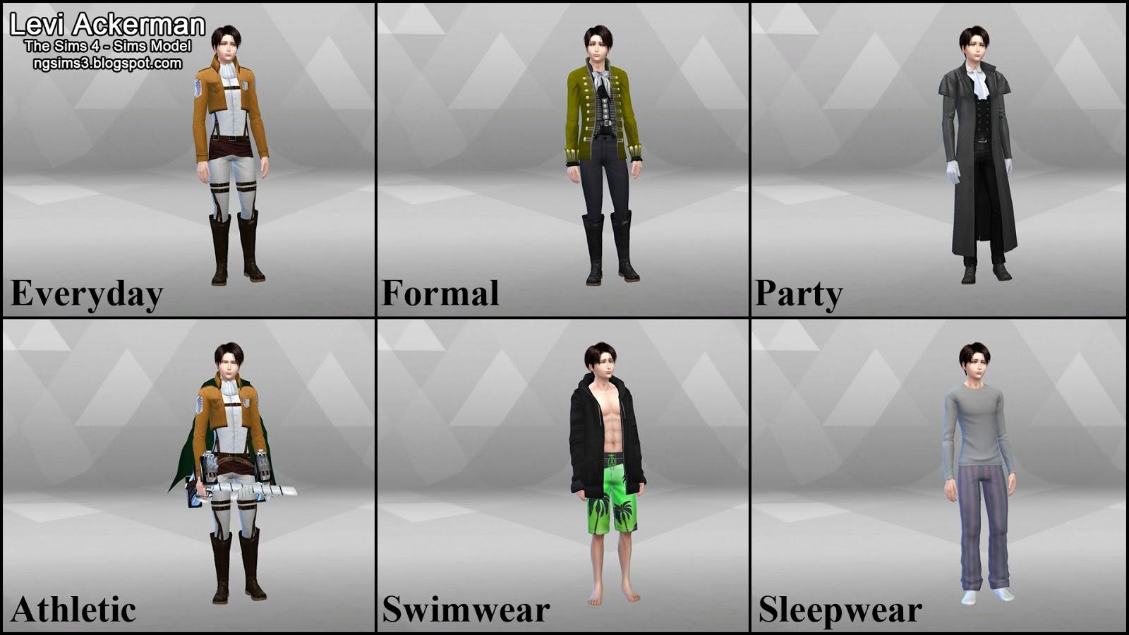 Ng Sims 3 Attack On Titan Levi Amp Erwin Ts4 Sims