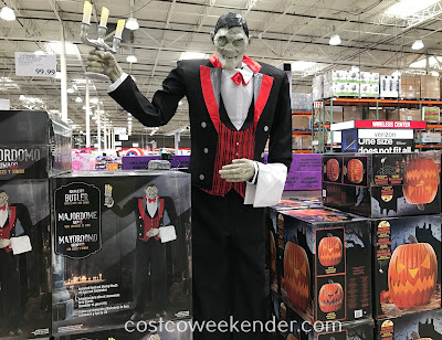 Decorate your home this Halloween with the Animated Butler with Lights and Sound
