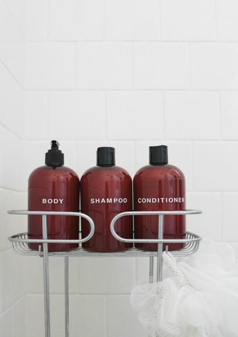 Prikrivanje bočica za šampon