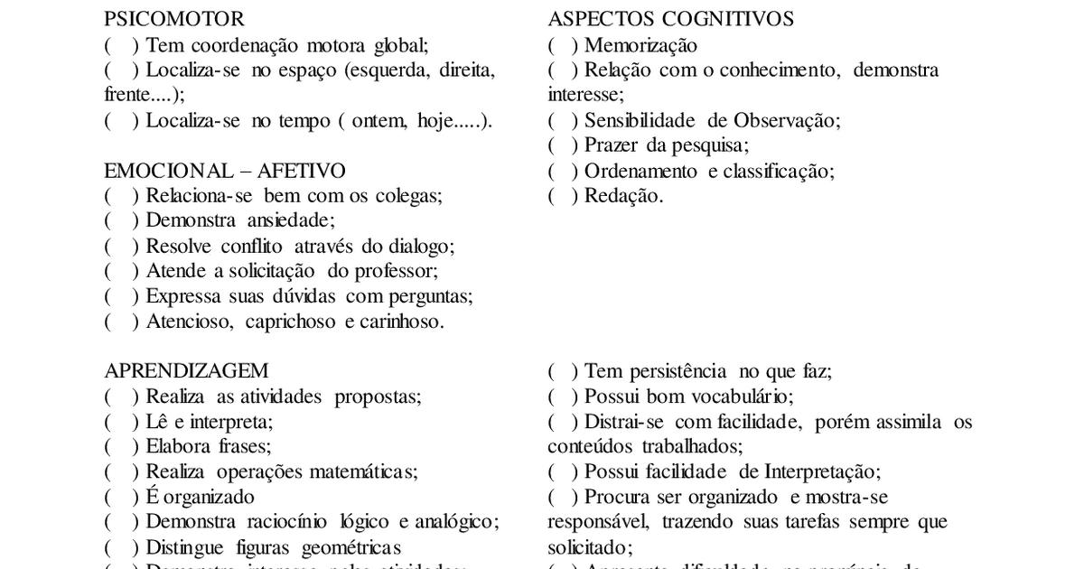 Fichas De Avaliacao Diagnostica Alunos Especiais 40 Atividades