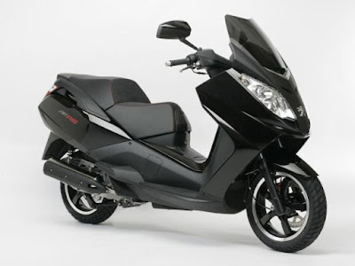 2016 New Scooter  Peugeot Satelis 125cc black color side view image
