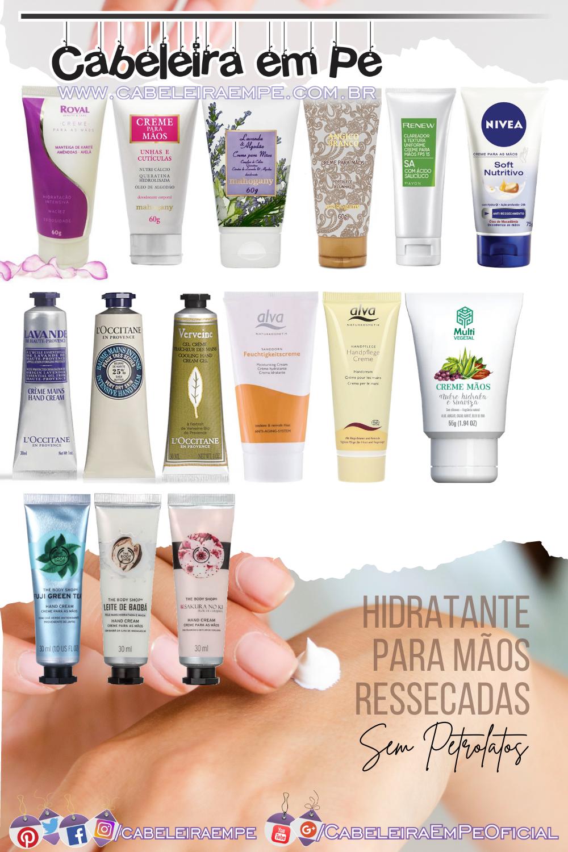 15 Hidratante para Mãos Ressecadas Roval, Mahogany, Avon, Nivea, L'Occitane, Alva, Multivegetal e The Body Shop