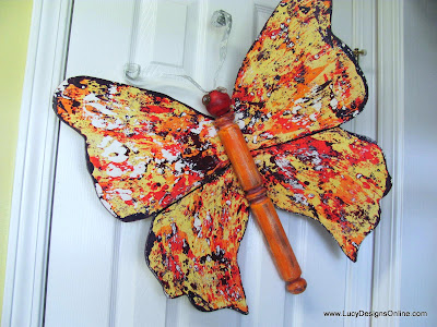recycled butterfly garden art
