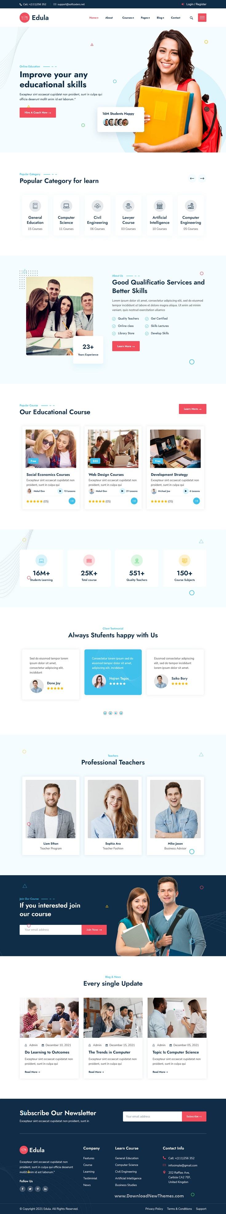 Online Education Bootstrap Template