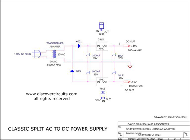 plus and minus dc power supply simple schematic collection. Black Bedroom Furniture Sets. Home Design Ideas