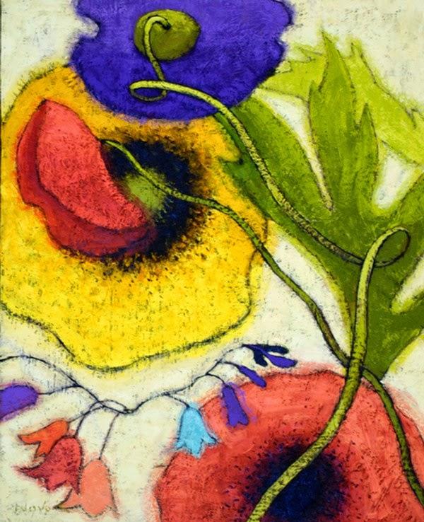 Cuadros pinturas arte cuadros de flores modernas - Cuadros flores modernas ...