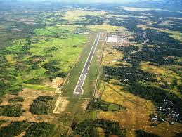 foto udara bandara sim