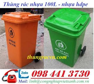 Thùng rác 100 lít