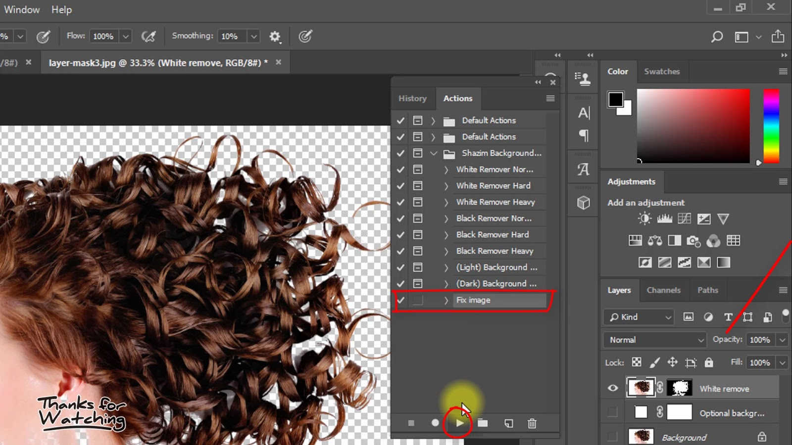 1 click Automatic Background Remove Photoshop Actions 5