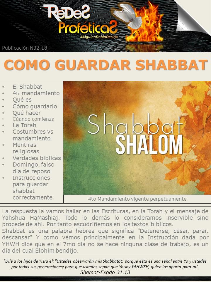 IMPORTANTE: Lo que debe saber para guardar Shabbat