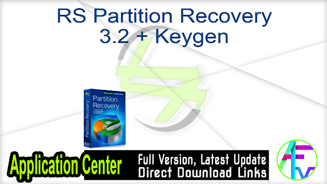 RS Partition Recovery 3.2 + Keygen