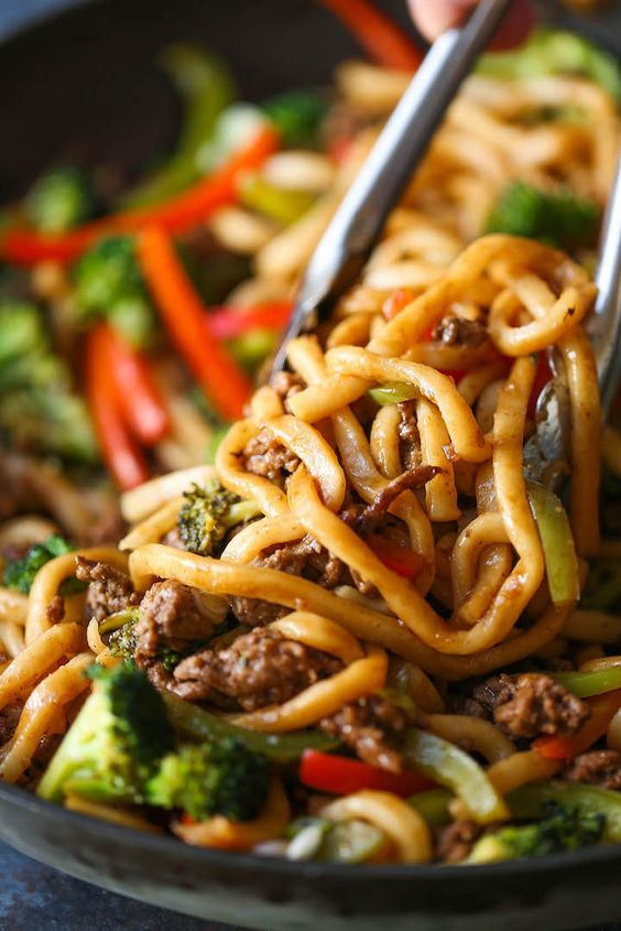 Ground Beef Noodle Stir Fry Recipe
