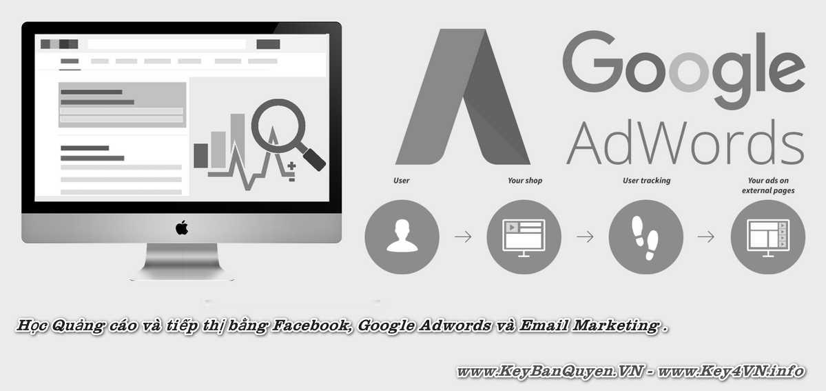 Học Quảng cáo và tiếp thị bằng Facebook, Google Adwords và Email Marketing .