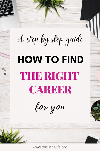 pinterest pin image - step-by-step guide: how to find the right career for you