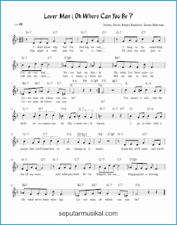 chord lover man lagu jazz standar