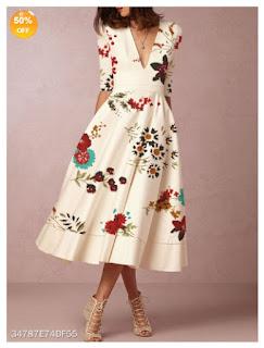 Vestido floral barato