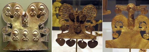Manufatti d'oro della tribù Muisca della Colombia