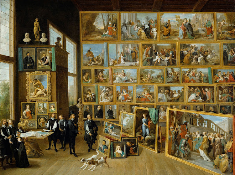 The Art Collection of Archduke Leopold Wilhelm in Brussels by Flemish artist David Teniers the Younger c1650-52